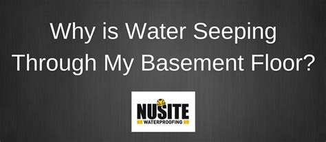 Water Seeping Through Basement Floor by Why Is Water Seeping Through Basement Floor Nusite