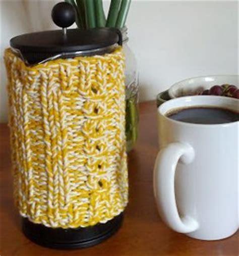 pattern for french press cozy french press coffee cozy allfreeknitting com
