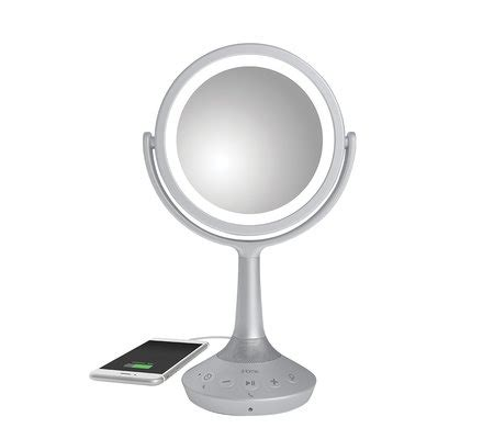 vanity mirror with lights and bluetooth ihome icvbt5 6 quot sided vanity speaker