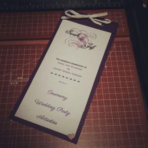 diy tiered programs weddingbee photo gallery
