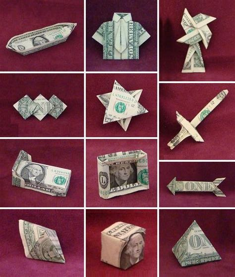 Origami Using Dollar Bills - paper folding dollar bill origami comot