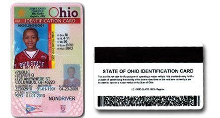 ohio drivers license template odps bmv ohio id card for children baby derek