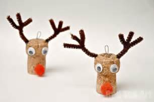 Christmas ornaments reindeer cork craft red ted art s blog