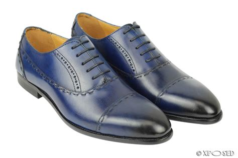 office shoes oxford opening hours new mens real leather lace up oxford shoes blue smart