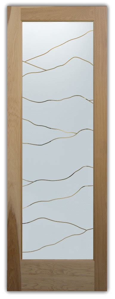 Interior Glass Doors Decorative Etched Hills Sans Decorative Etched Glass Interior Doors