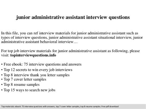 professional administrative resume sle to make you get the junior administrative assistant questions