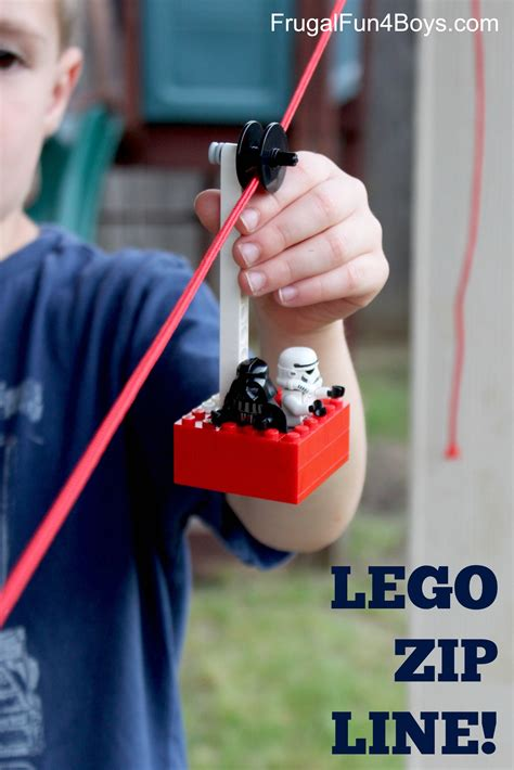 how to make a zip line in your backyard build a lego zipline