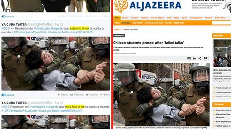 imagenes falsas venezuela medios usan fotos falsas para crear caos sobre el gobierno