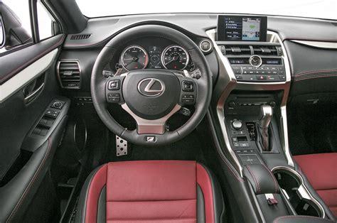 lexus nx 200t interior 2015 lexus nx 200t f sport 300h first test motor trend