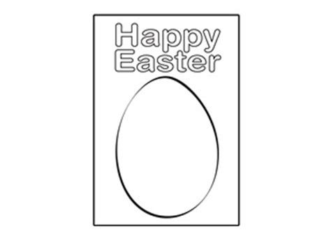 Easter Card Templates Ks2 by Easter Card Blank Egg Ichild