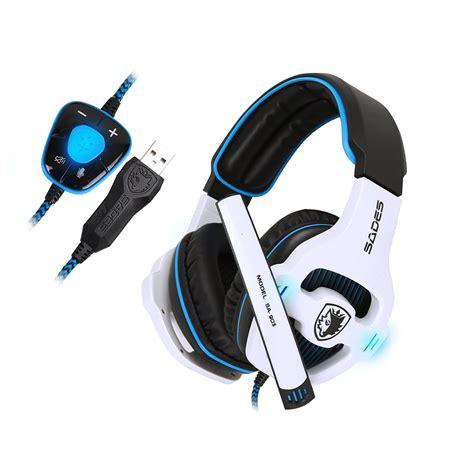 Sound Card Headset Gaming sades sa903 7 1surround stereo sound usb gaming headset built in sound card gift ebay