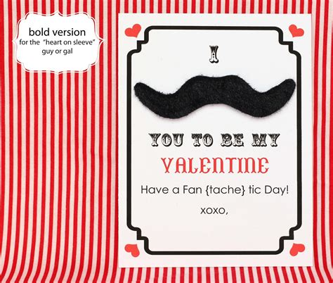 mustache valentines make mustache s day cards free printable