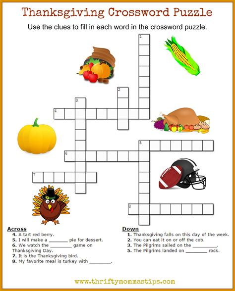 Printable Turkey Puzzle | thanksgiving crossword puzzle printable