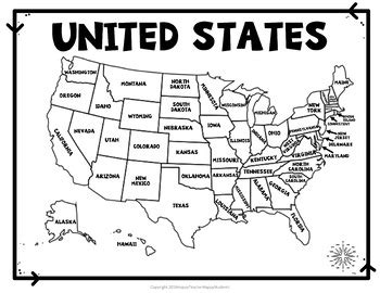 map of the united states handout united states map quiz worksheet usa map test with
