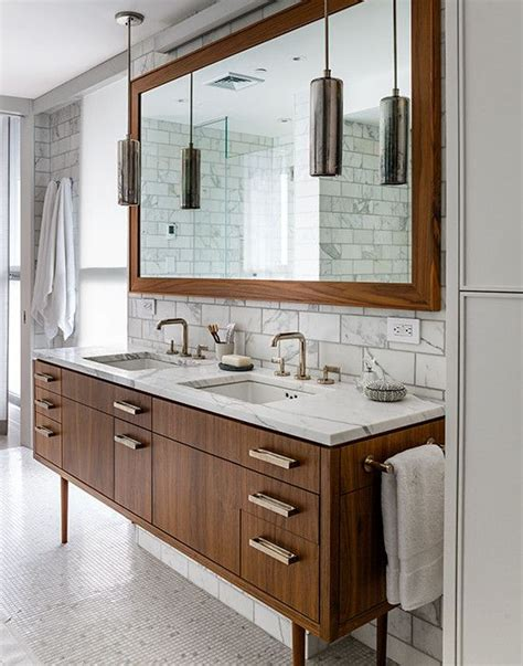 mid century modern bathroom vanity ideas vintage bathroom features mid century modern washstand