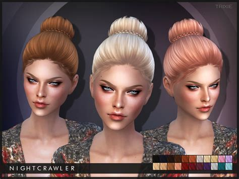 tsr braids sims 4 my sims 4 blog nightcrawler trixie hair for females tsr