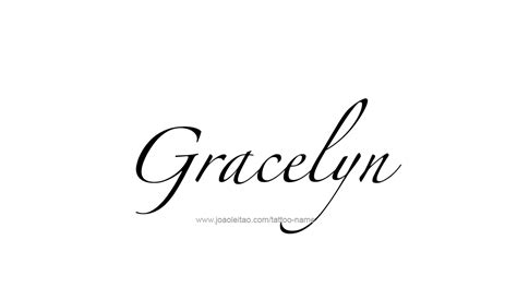 gracelyn name tattoo designs