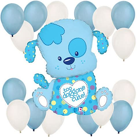 Baby Boy Balloons For Baby Shower by Puppy Boy Baby Shower Balloon Kit Bigdotofhappiness