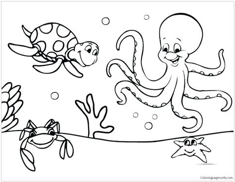 preschool coloring pages ocean animals sea creatures coloring page amazing ocean animals coloring