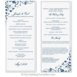 wedding program template word wedding program template word cyberuse