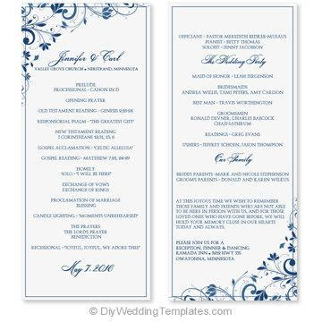 wedding program template word free microsoft word wedding program templates 28 images