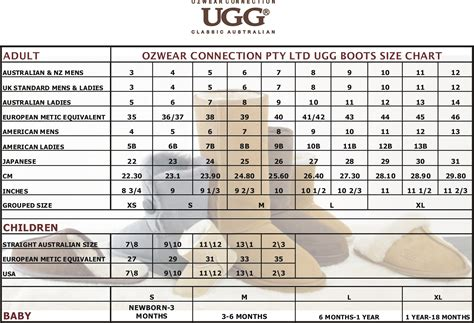 boots sizing infant ugg boots size chart