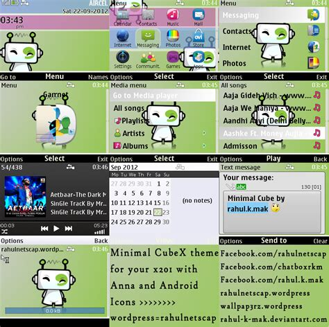 color themes mobile9 minimal hd cube for nokia x201 and nokia c3 and other