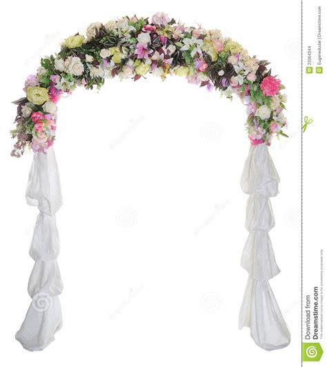 Wedding Arch On White Background Stock Images   Image
