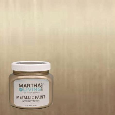 martha stewart living 10 oz vintage gold metallic paint 4 pack 259285 the home depot