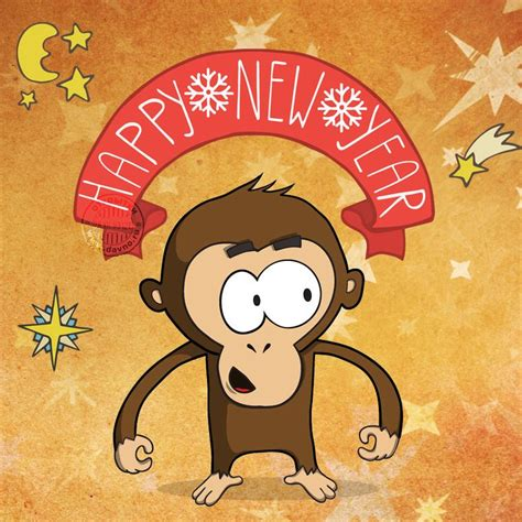 happy new year monkey happy new year 2016 of monkey 2 0 1 6
