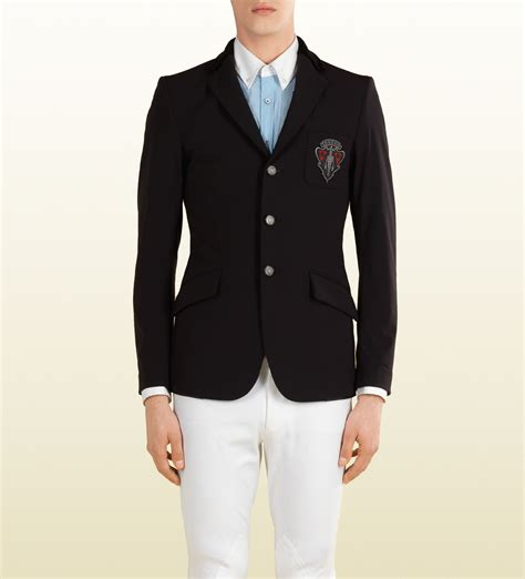 riding jacket for men lyst gucci black jacket from equestrian collection in