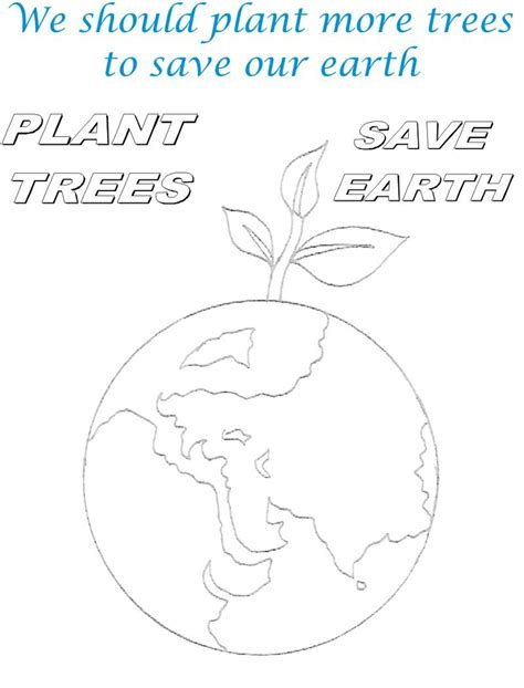 Save The Earth Coloring Pages Plant Tree To Save Earth Coloring Page by Save The Earth Coloring Pages