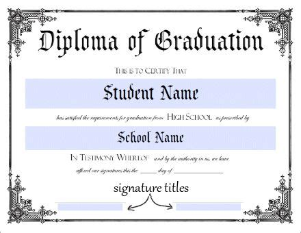 Donna Young S Printable High School Diploma This Will Sure Come In Handy Homeschool Stuff Maryland High School Diploma Template