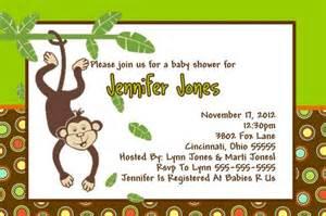 baby shower invitation baby jungle monkey polka dots ajinvites gift giving on artfire