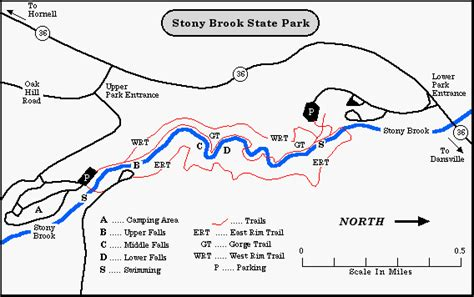 stony brook map stony brook state park steuben county new york