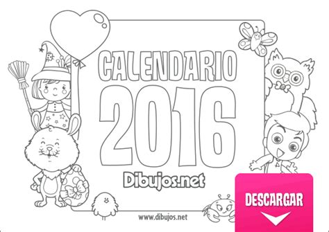 Calendario Para Colorear 161 Ya Puedes Descargar El Calendario Infantil 2015 Para