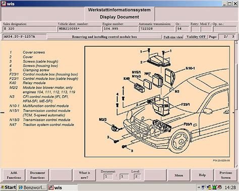 mercedes 1999 230 slk fuse box diagram electrical schematic