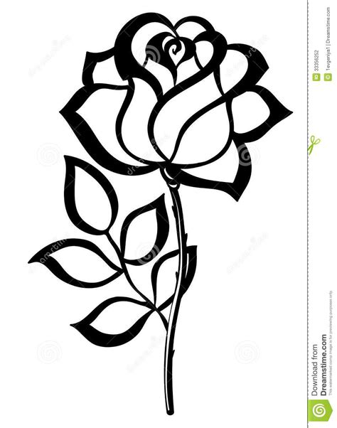 simple rose tattoo outline simple outline simple single outline black