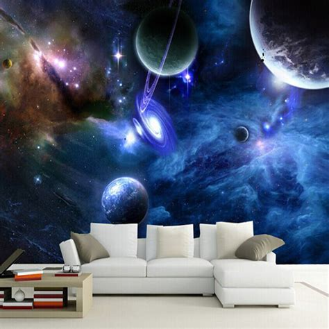 custom 3d murals galaxy fluorescent photo wallpapers