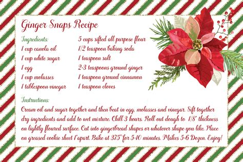 gingerbread recipe card template 88 cookie recipe cards free printable