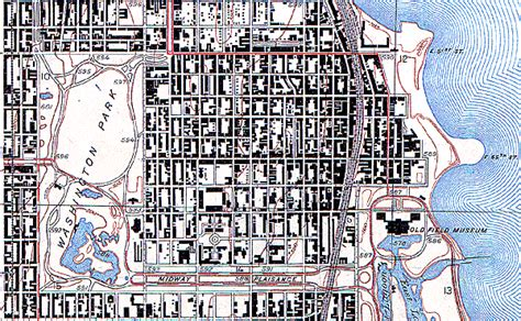 chicago map 1920 map collection