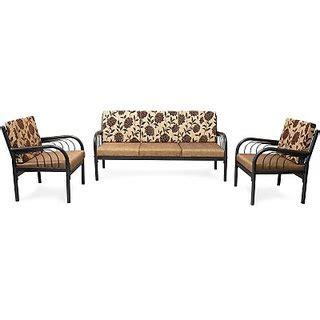 metal sofa set online furniturekraft metal sofa set 3 1 1 color black