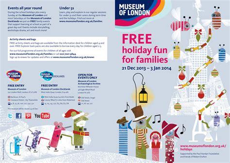 leaflet design london museum of london christmas leaflets rose lloyd illustrator