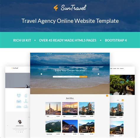 Search 100 Booking Travel Agency Responsive Website Templates Travel Booking Website Templates Free