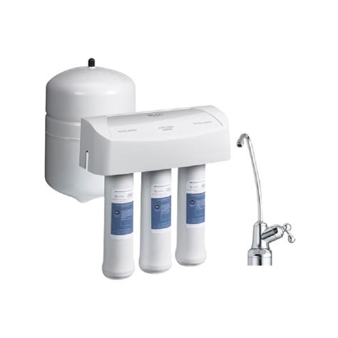 whirlpool under sink water filter whirlpool wher25 3 stage reverse osmosis undersink water