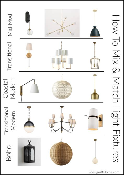 light fixture designs which blend looks and function 3 simple tips for mixing matching light fixtures