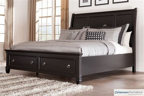 king size beds vs queen size beds furniture20 greensburg queen storage sleigh bed from ashley b671 74