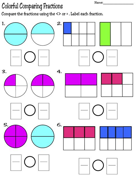 Math Worksheets Comparing Fractions by Free Coloring Pages Of Fractions Puzzle