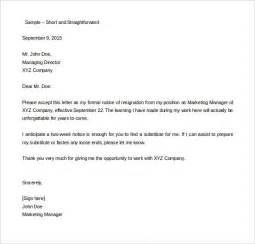 Resignation Letter Ireland by Resignation Letter Ireland