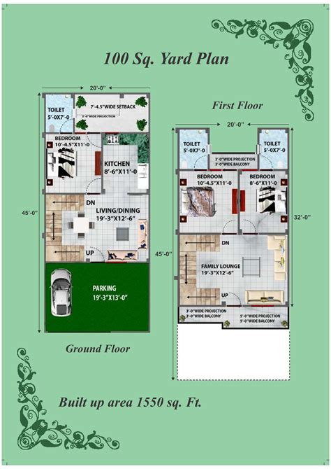 Home Design For 100 Sq Yard | duplex house plans in 100 sq yards house plan 2017